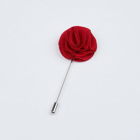 Maroon Waved Lapel Pin
