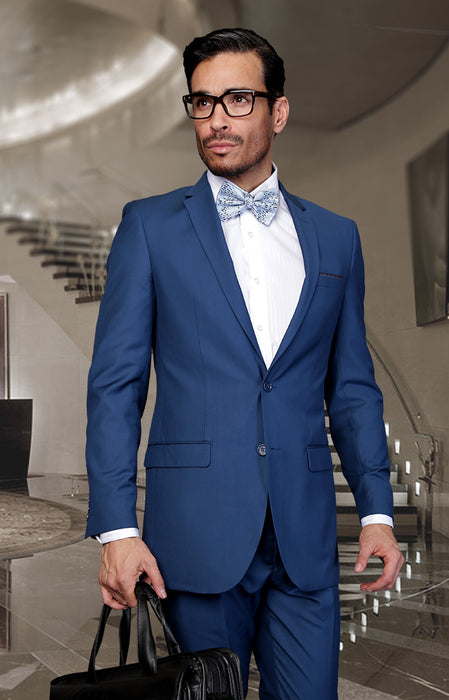 Statement Men's Indigo 100% Wool Suit