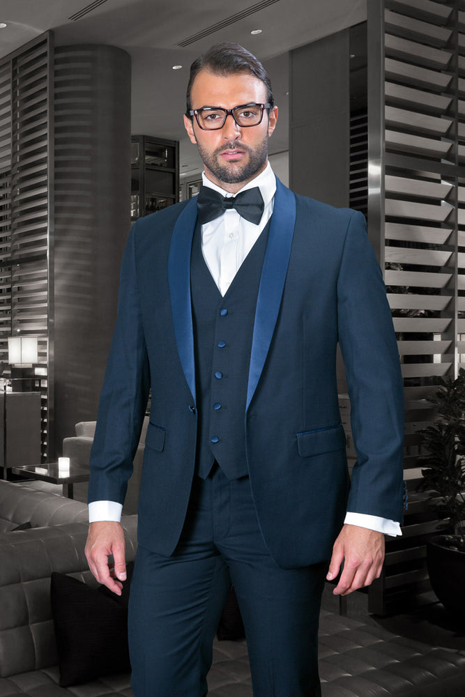 Statement Men's Navy Tuxedo with Navy Lapel