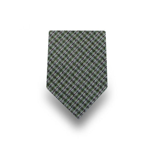 Men's Green Striped Microfiber Tie