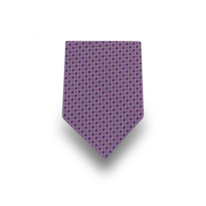 Men's Pink Patterned Microfiber Tie