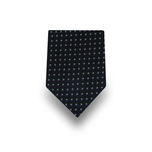 Men's Black with White Squares Microfiber Tie