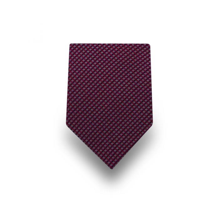 Men's Red Striped Microfiber Tie