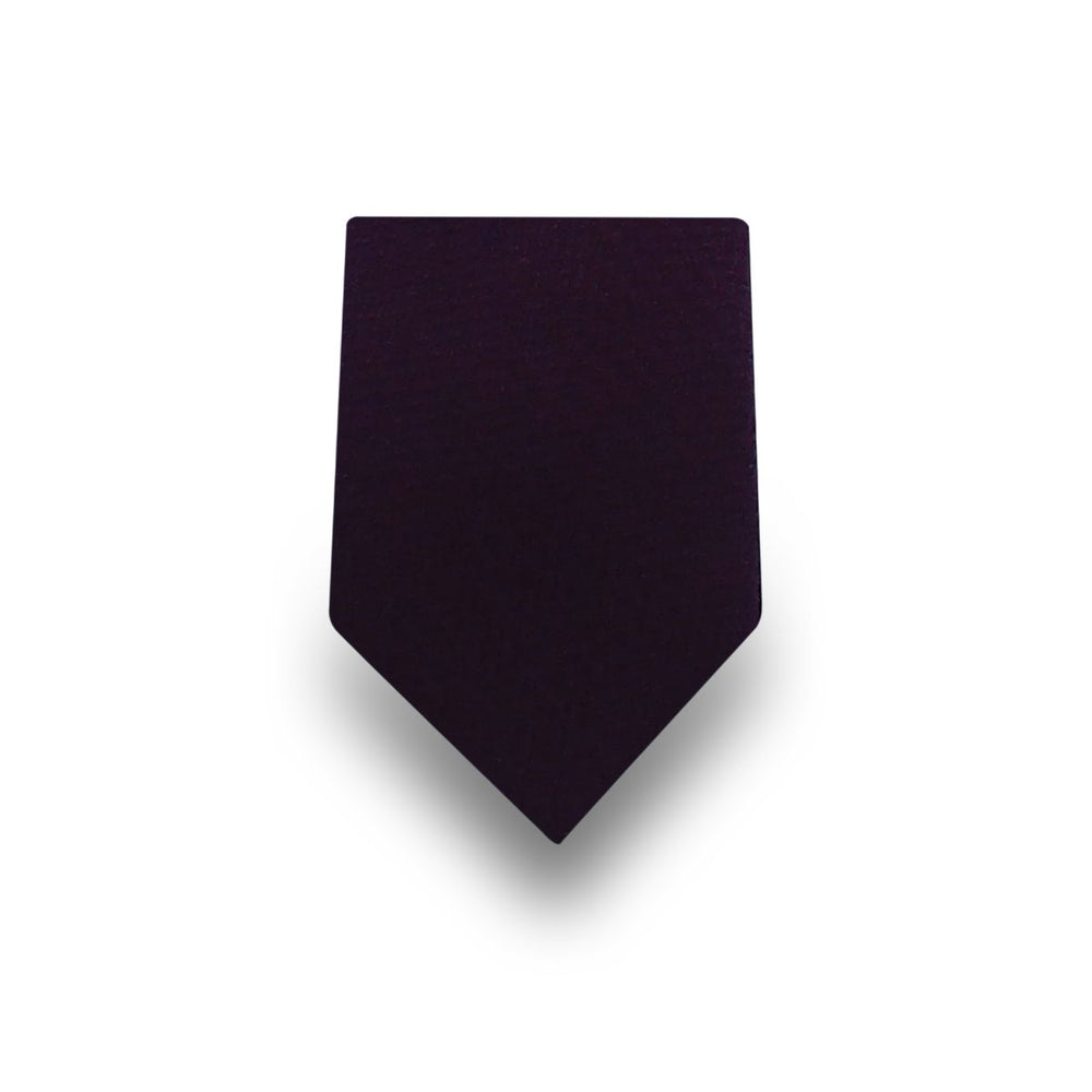 Men's Plain Black Microfiber TIe