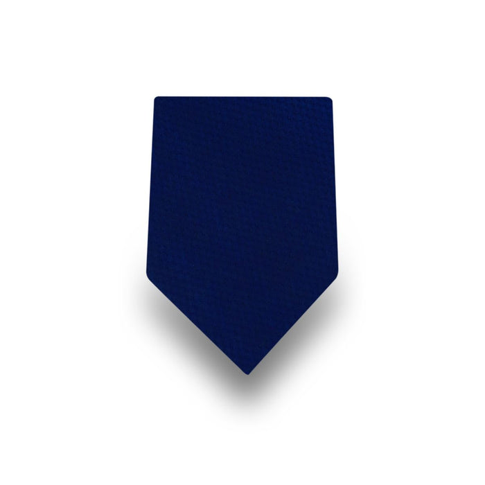 Men's Dark Blue Plain Microfiber Tie