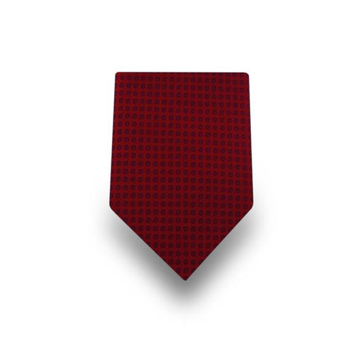 Men's Red Patterned Microfiber Tie