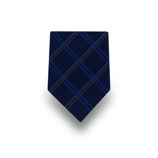 Men's Navy with Multicolored Stripes Microfiber Tie