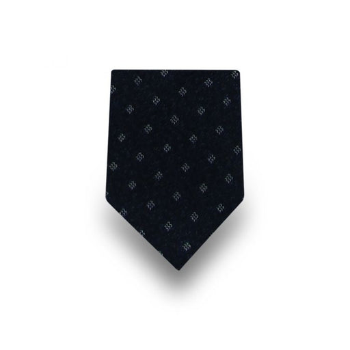 Men's Black with White Pattern Microfiber Tie
