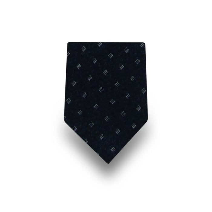 Men's Navy Patterned 100% Silk Tie