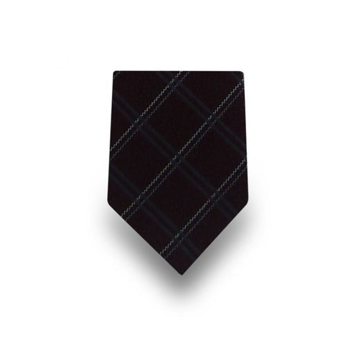 Men's Black with Teal & White Stripes Microfiber Tie