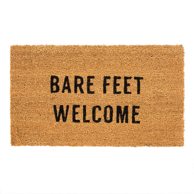 Bare Feet Welcome Door Mat