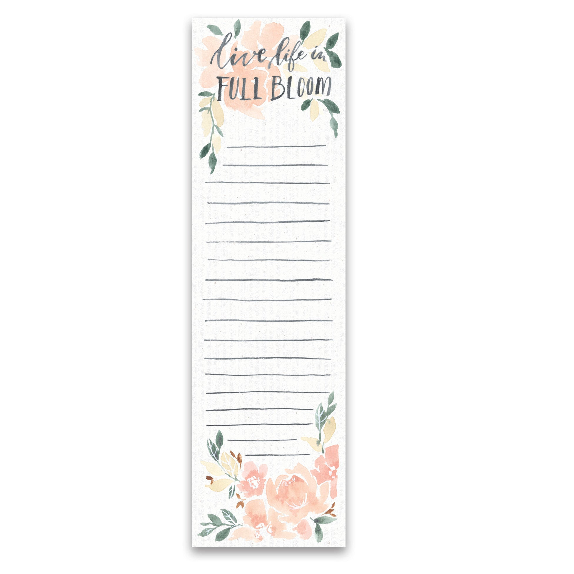 Live Life In Full Bloom Notepad-Gifts-A Cottage in the City