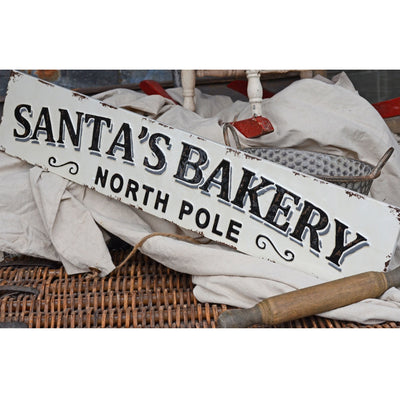 Santa's Bakery Metal Sign