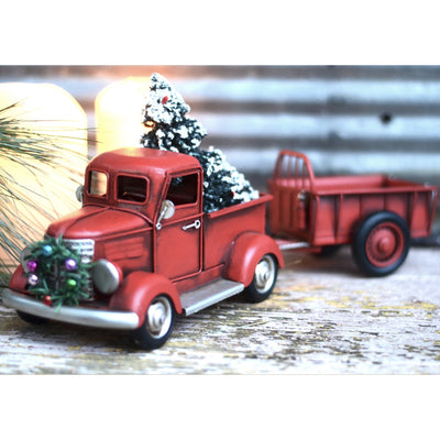 Christmas Truck With Trailer