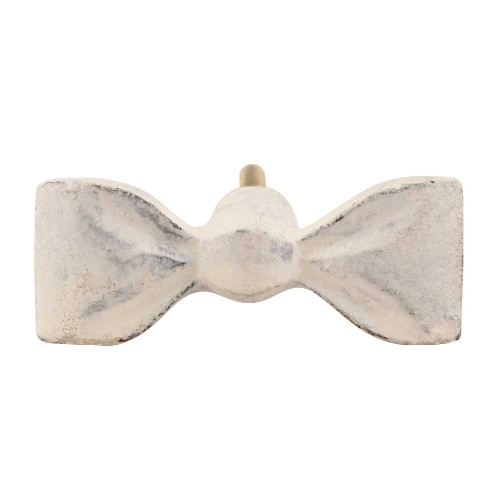 Cast Iron White Bowtie Knob-Decor-A Cottage in the City