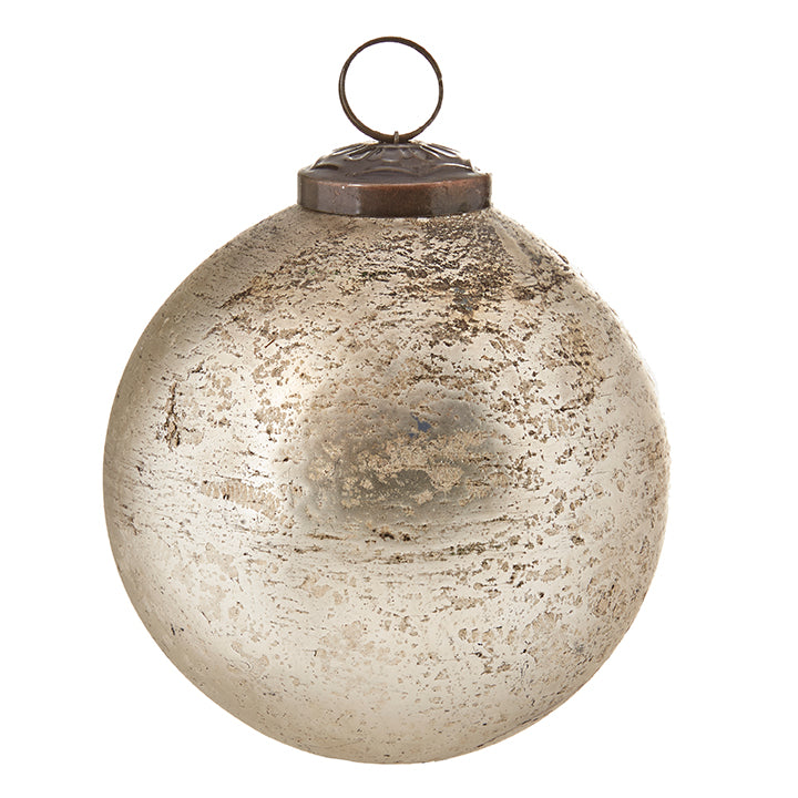 Antiqued Glass Ball Ornament