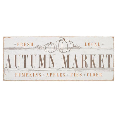 Autumn Market Wood Wall Art