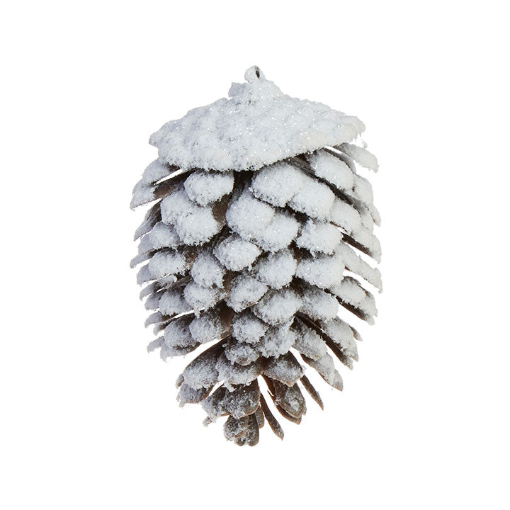 Snowy Pinecone Ornament-Seasonal-A Cottage in the City