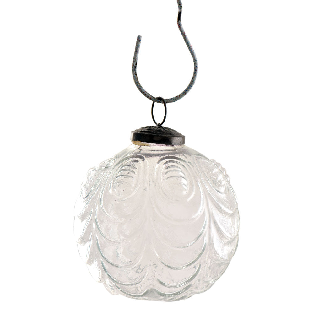 Cut Glass Ball Ornament