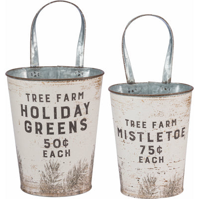 Holiday Greens Wall Bucket-Seasonal-A Cottage in the City