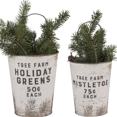 Holiday Greens Wall Bucket