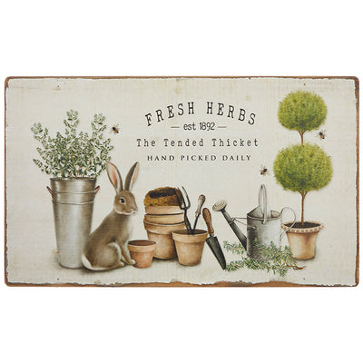 Fresh Herbs Rabbit Wall Art