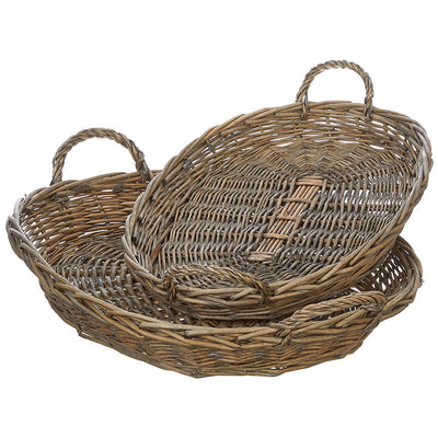 Oval Natural Basket Tray