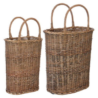 Willow Tall Handled Basket