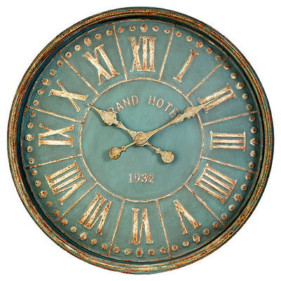 Iron Rusty Green Wall Clock