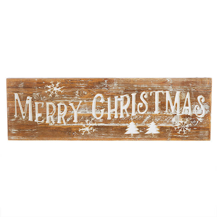 Merry Christmas Carved Wood Sign-Seasonal-A Cottage in the City