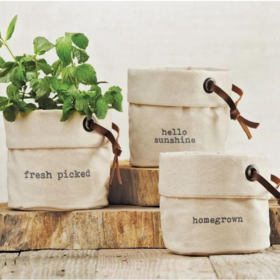 Canvas Planter Basket