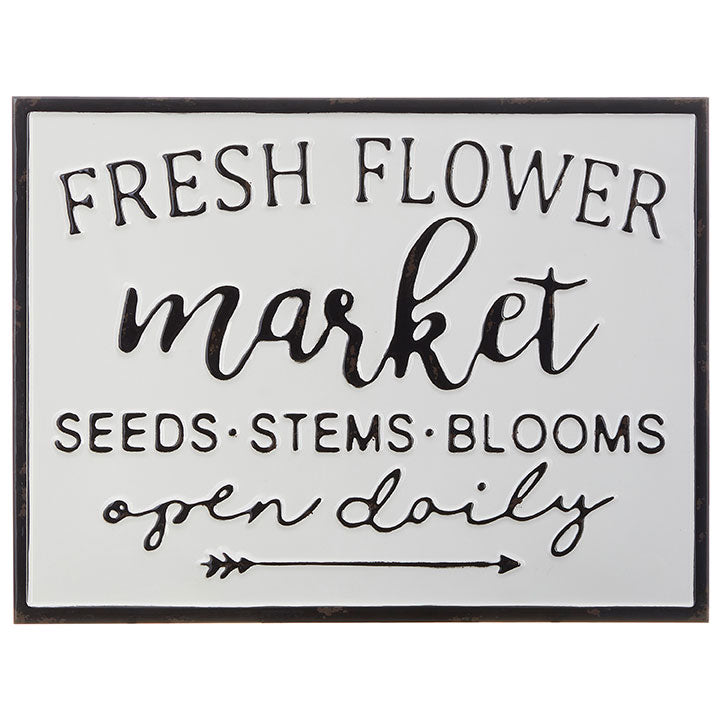 Fresh Flower Market Metal Sign-Decor-A Cottage in the City