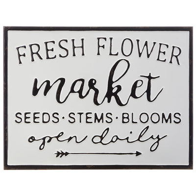 Fresh Flower Market Metal Sign