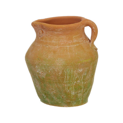 Mossy Terra Cotta Pitcher