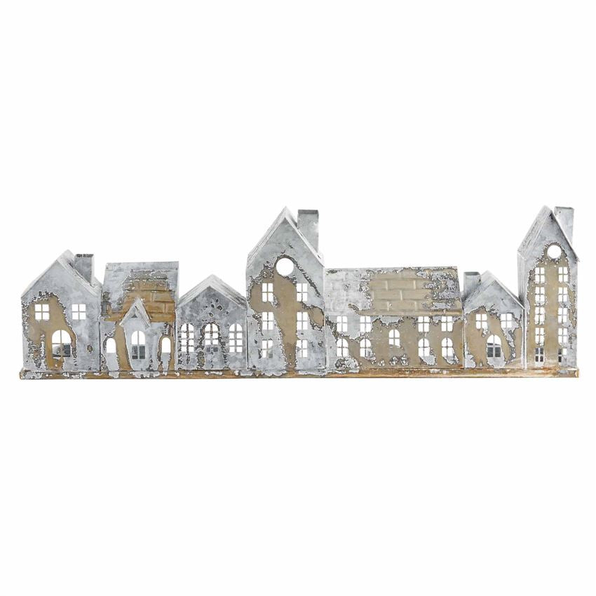 Distressed Metal Village Tea Light Holder-Seasonal-A Cottage in the City