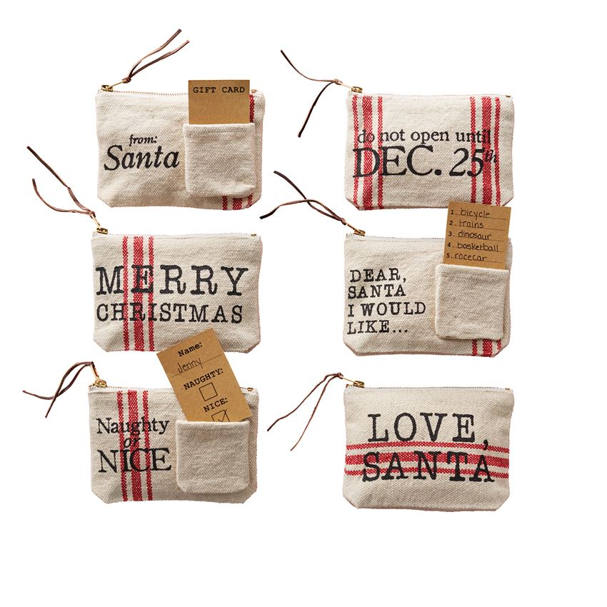 Christmas Grain Sack Gift Pouch-Gifts-A Cottage in the City