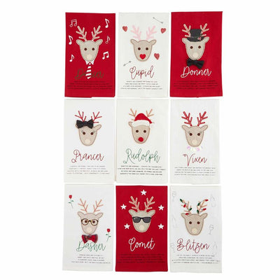 Reindeer Games Appliqued Towel