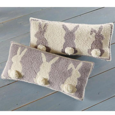 Bunny Tails Hooked Pillow