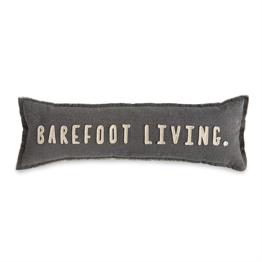 Canvas Barefoot Living Lumbar Pillow-Decor-Mud Pie-A Cottage in the City