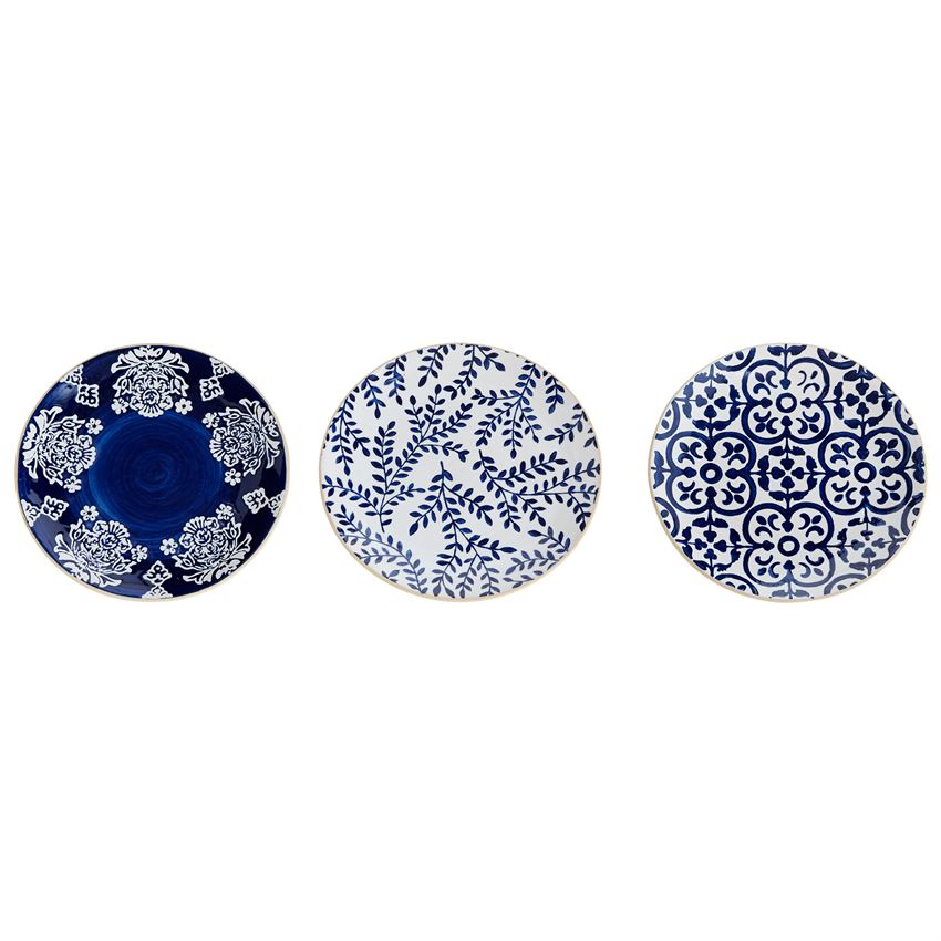 Indigo Mosaic Salad Plate-Decor-A Cottage in the City