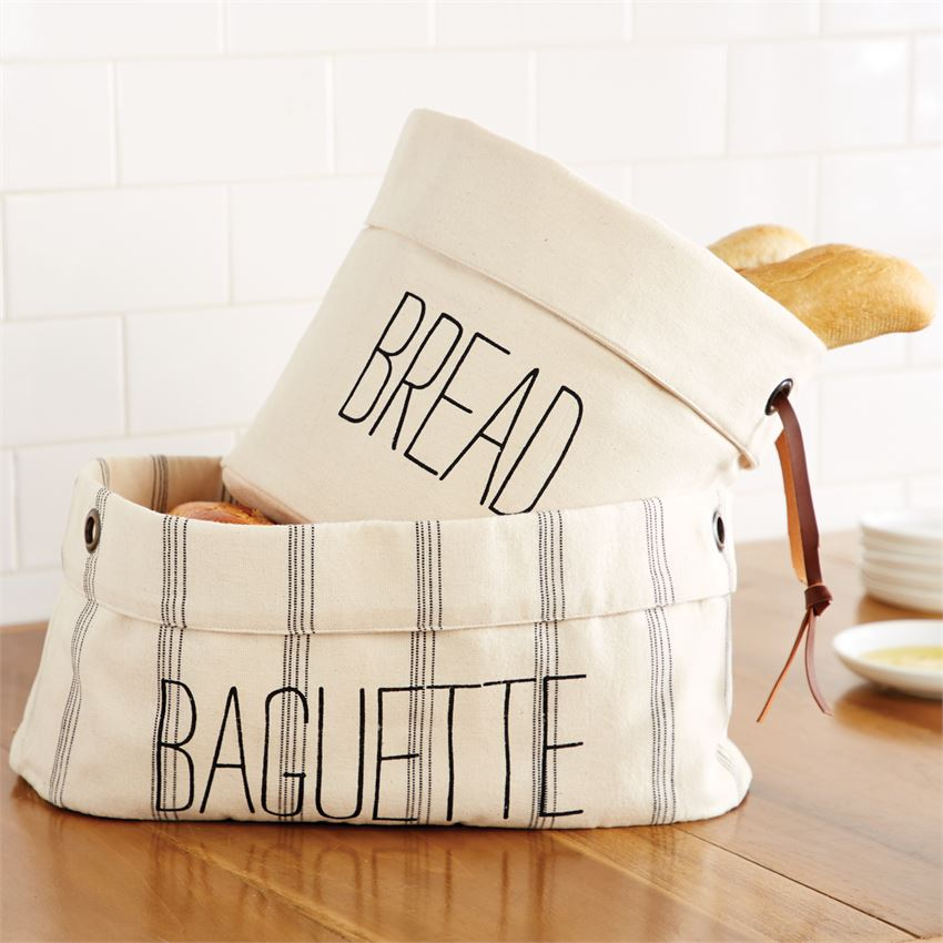 Canvas Bread Basket-Tabletop-A Cottage in the City