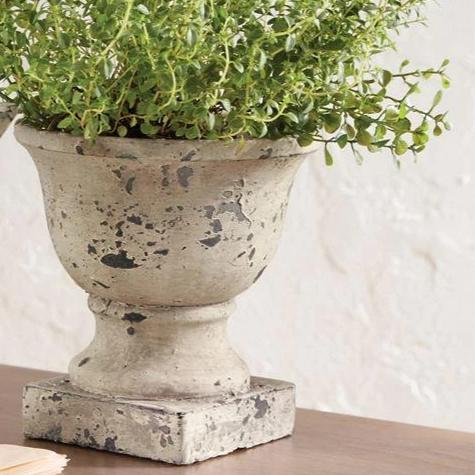 Concrete Tabletop Urn-Decor-A Cottage in the City