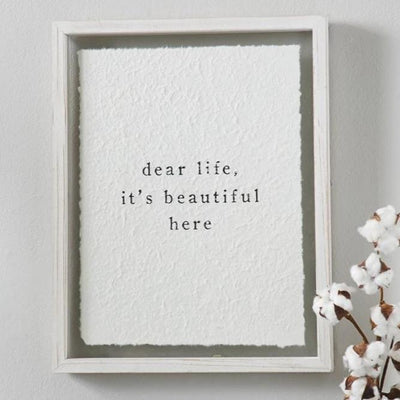 Dear Life Wood Framed Paper Print