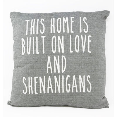 Shenanigans Grey Pillow