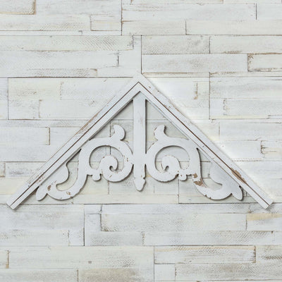White Decorative Gable Bracket