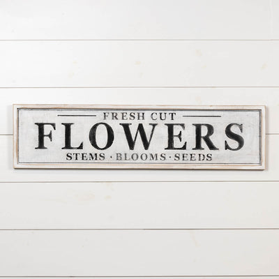 Fresh Cut Flowers Wood Sign