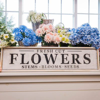 Fresh Cut Flowers Wood Sign-Decor-A Cottage in the City
