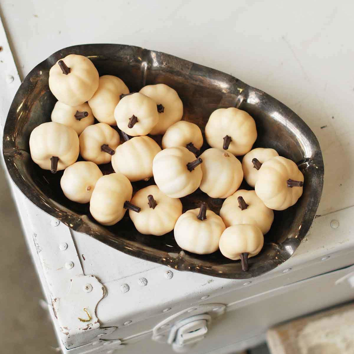 Boxed Mini Cream Pumpkins-Seasonal-A Cottage in the City