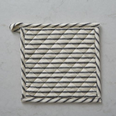 Bergen Stripe Black Pot Holder