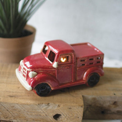 Ceramic Red Truck Night Light
